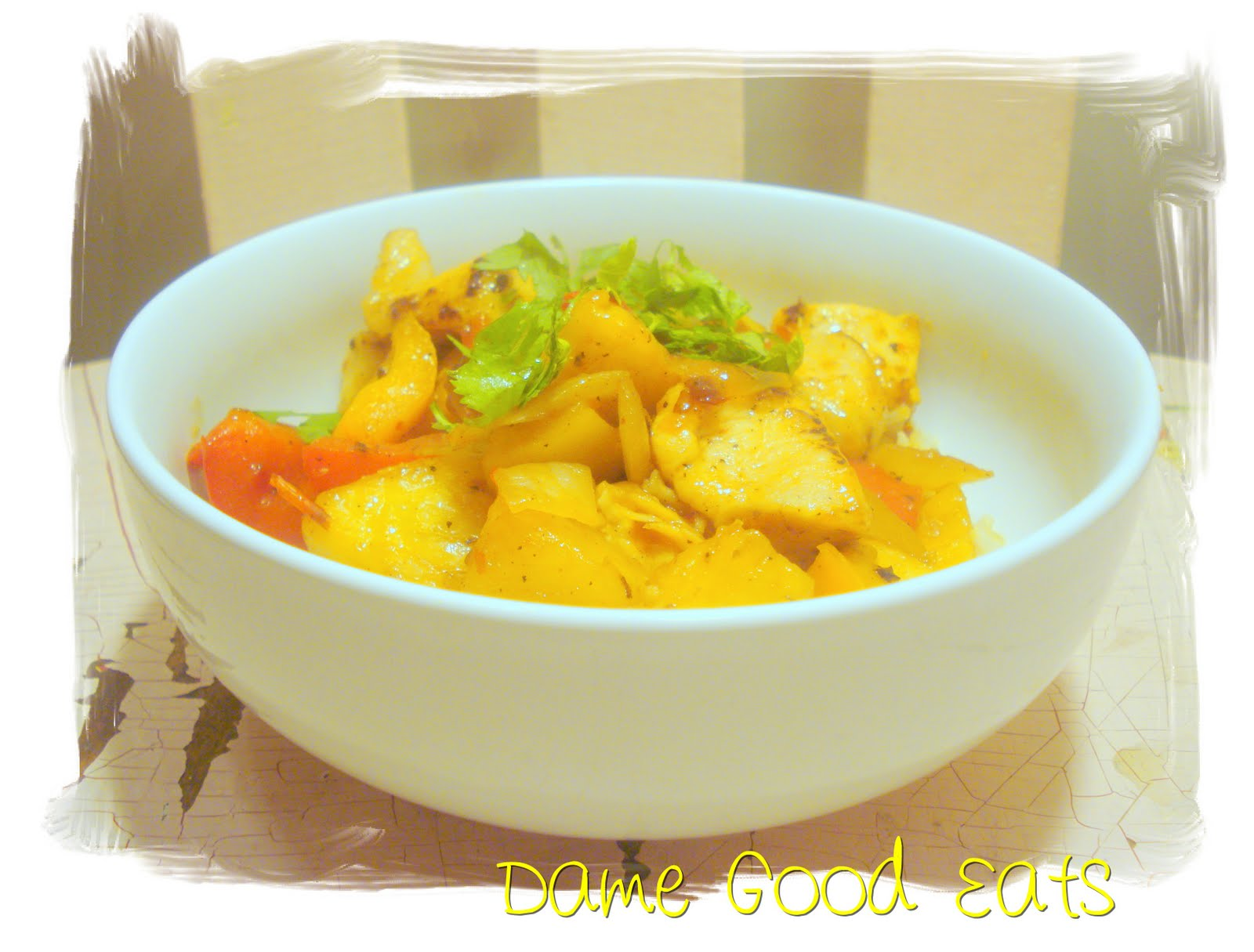 Dame Good Eats: Thai Chicken and Pineapple Stir Fry