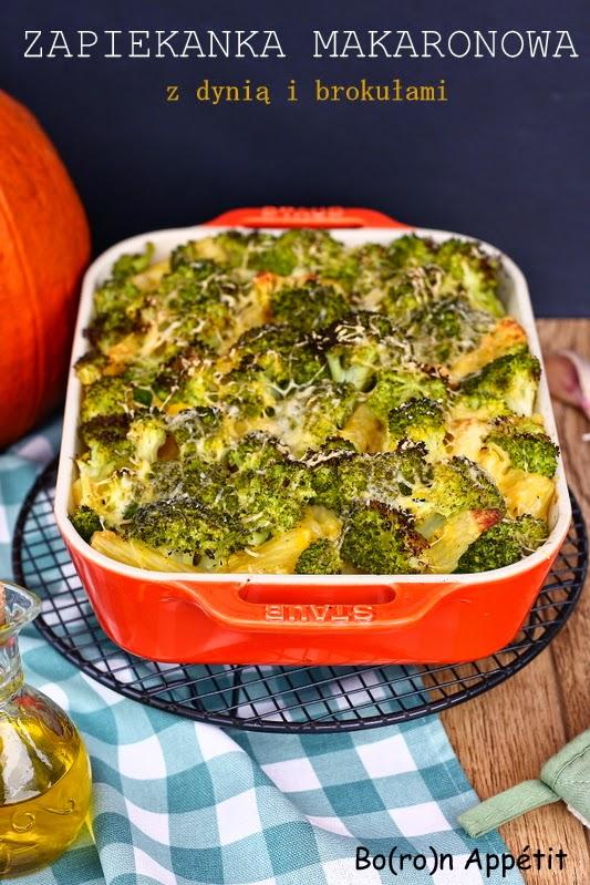 Zapiekanka z brokułami i dynią z serem