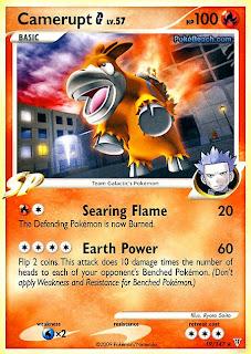 Camerupt G Pokemon Card Supreme Victors
