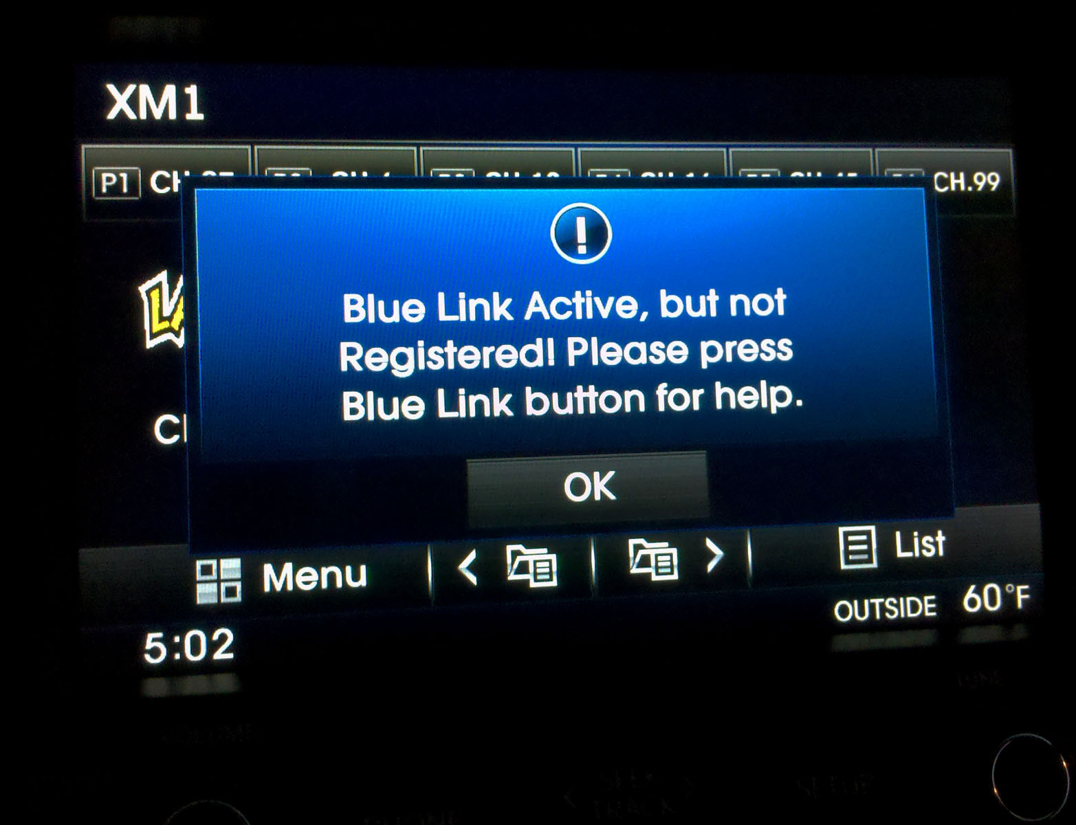 classic car information blue link from hyundai has a annoying irritating message that shows up. Black Bedroom Furniture Sets. Home Design Ideas