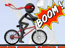 Bike Stick Man Stunts 2