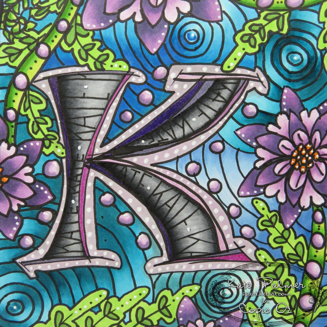 Copic Oz: Copic Art Journaling #3: Learning To Doodle
