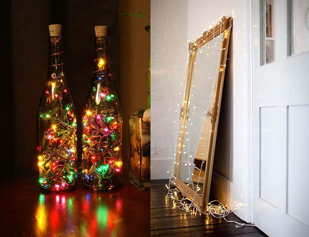 Decoração de Natal: Iluminação com pisca-piscas