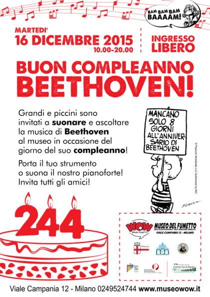 locandina wow spazio fumetto evento 16 dicembre milano compleanno beethoven