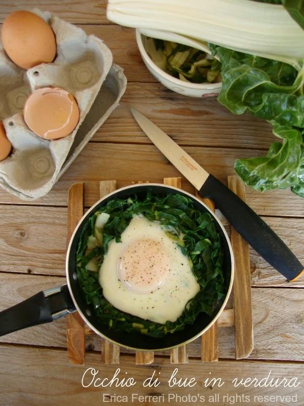 Ricetta dell'uovo a occhio di bue con verdura