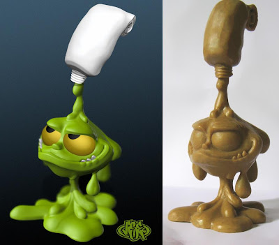 First Look - Tube Monster 8 Inch Vinyl Figure by VISEone