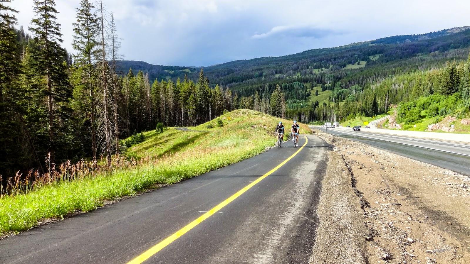 bike path on Vail Pass