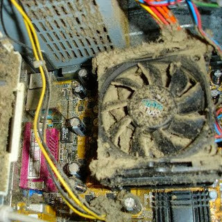 Dust removal for CPU Tower