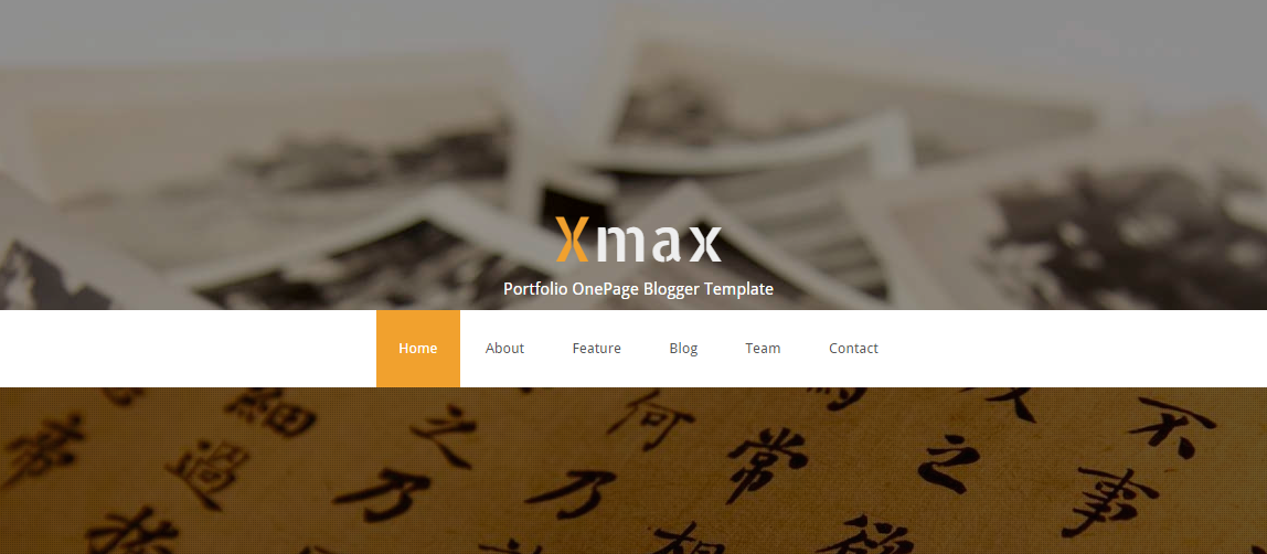 Download Xmax – One Page Portfolio Free Blogger Template