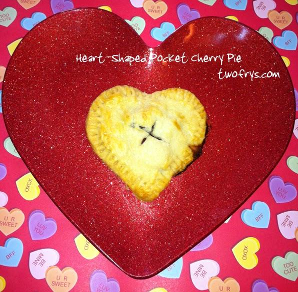 heart-shaped cherry pie