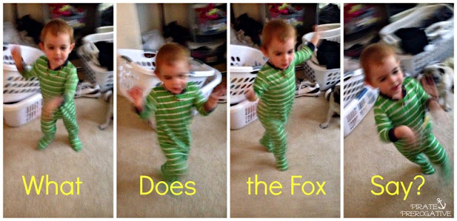 What does the fox say, interpretive dance by a toddler