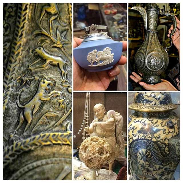 carvings, statues antique
