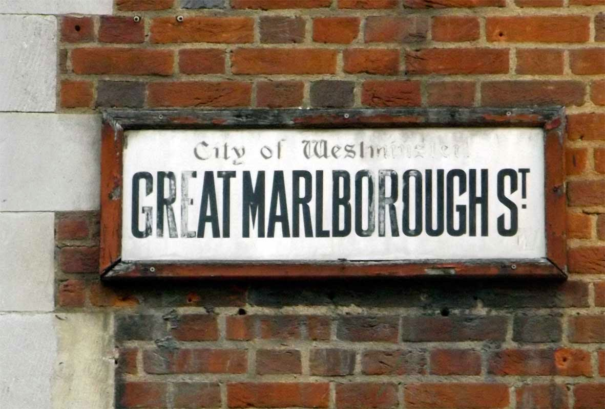 great marlborough street sign london