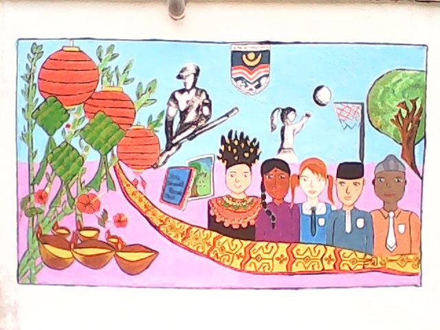 Rencah kehidupanku proses buat mural for Mural yang cantik
