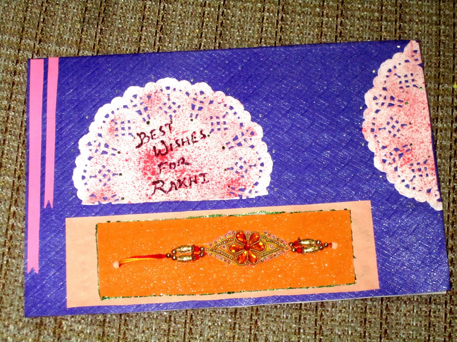 Card Making Ideas For Raksha Bandhan Part - 37: Handmade Rakhi Cards