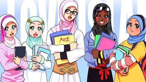 Gambar-gambar kartun muslim dan muslimah Anak