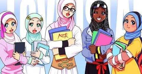 Gambar-gambar kartun muslim dan muslimah Anak - Gambat