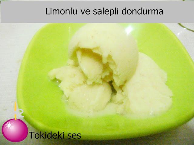 Limonlu Ve Salepli Dondurma