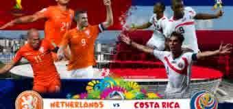 Perkiraan Skor Pertandingan Belanda vs Kosta Rika Pada Perdelapan Final World Cup(05/07)