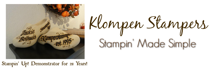 Klompen Stampers (Stampin' Up! Demonstrator Jackie Bolhuis)
