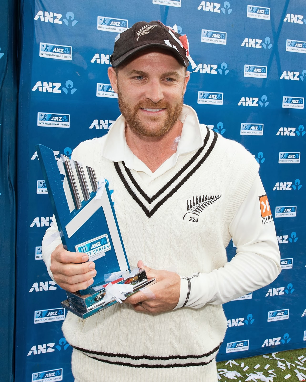 Basin Reserve, Brendon McCullum, Captain, Century, Cricket, History, India Tour New Zealand 2014, Match, New Zealand, New Zealand vs India, Sports, Test Series, Triple-centurion, Trophy, Wellington, Winner,