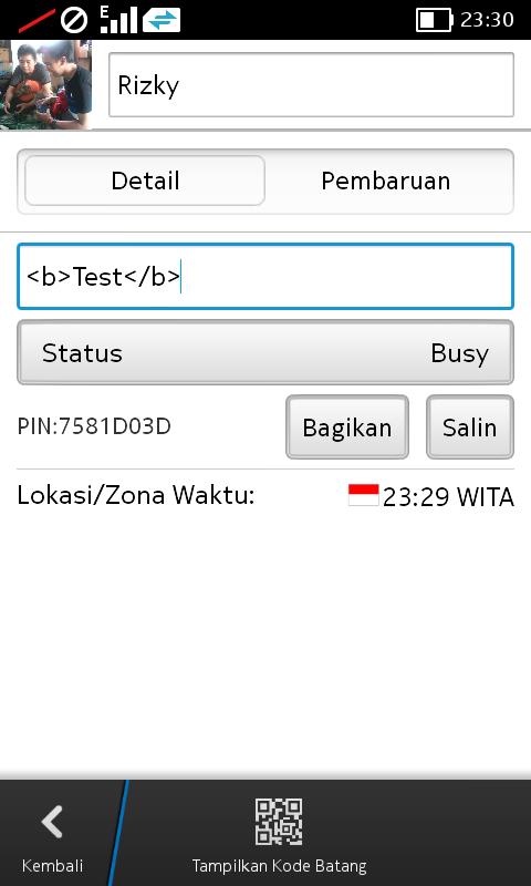Status BBM Tebal (BOLD)