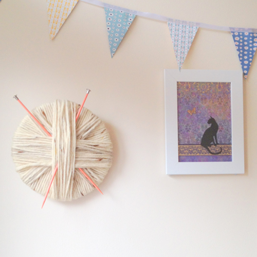 Running with a glue gun my favorite d i y 39 s right now for Diy yarn wall art