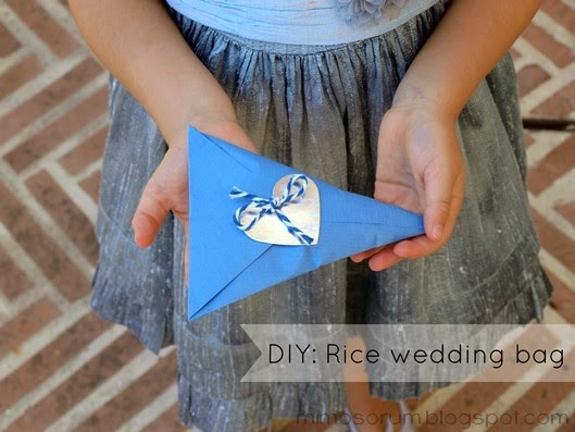 Paquetes de arroz para bodas - DIY: Rice wedding bag
