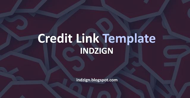 Membuat Credit Link Template Tidak Bisa Diganti dan Dihapus