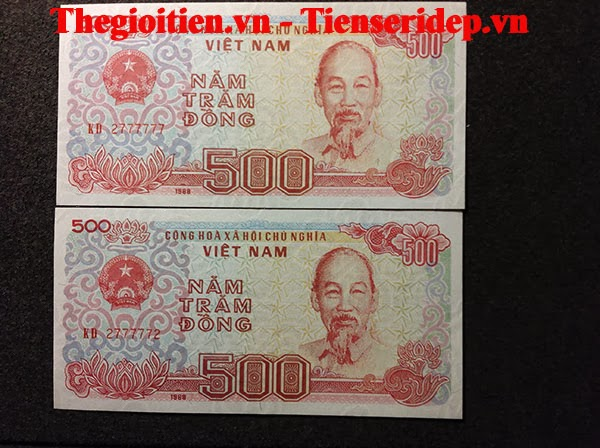 tiền 500đ lục 7