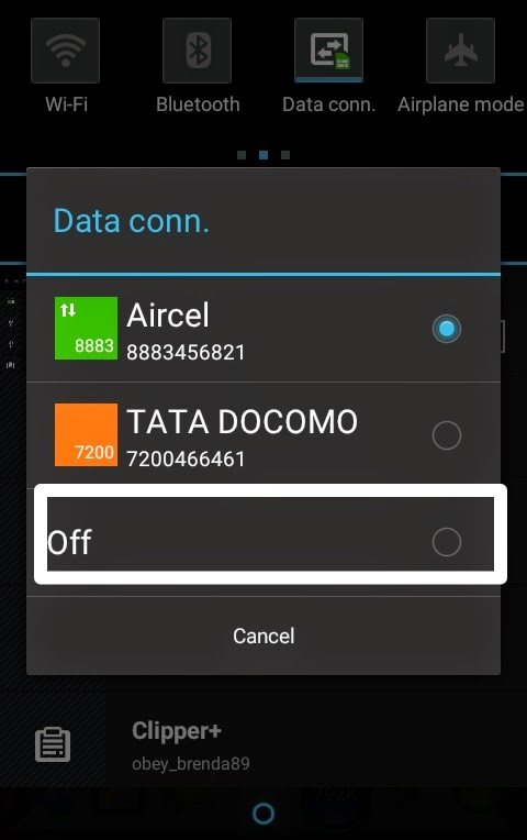 Pic 7- Turn your mobile data off to enhance performance