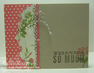 Oh Hello (Stampin' Up!) Thanks so much handmade card