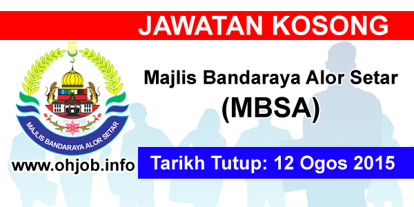 Jawatan Kerja Kosong Majlis Bandaraya Alor Setar (MBAS) logo www.ohjob.info ogos 2015