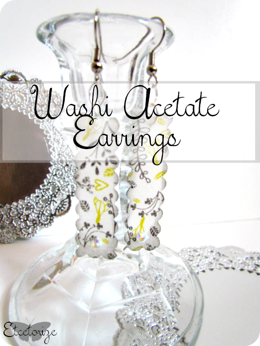 DIY Earrings, DIY Jewellery, Washi Tape