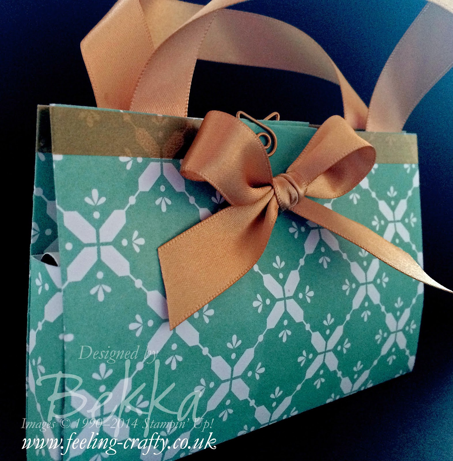 Sweet Gift Bags using the All Is Calm Papers from Stampin' Up!