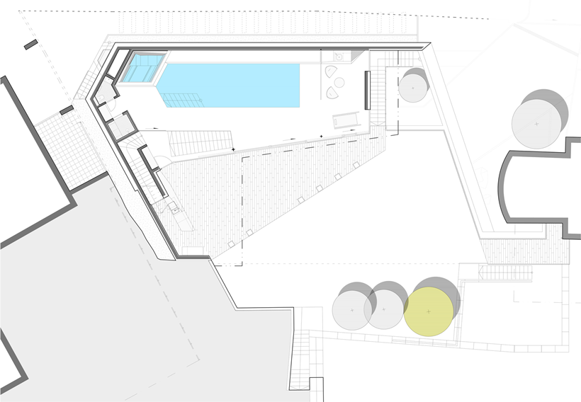 Ground floor plan of Ultra Modern House by architekti.sk, Slovakia