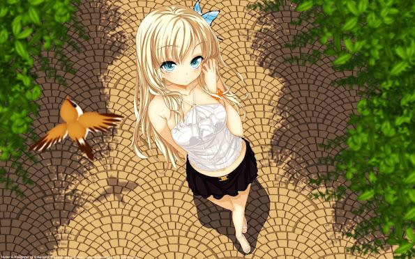 kashiwazaki sena haganai boku wa tomodachi ga sukunai anime girl blonde hd wallpaper