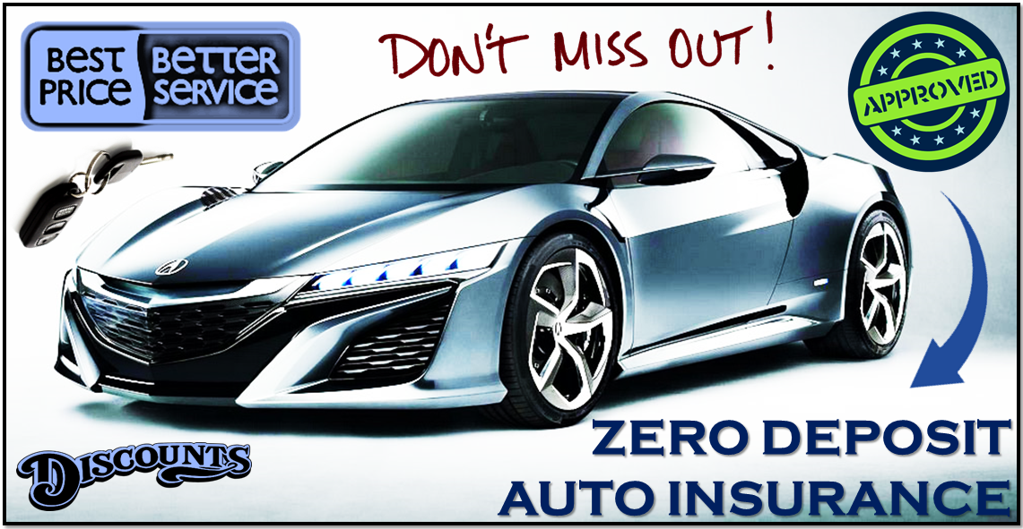 zero deposit car insurance with discounts