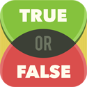 True Or False - Test Your Wits! App iTunes App Icon Logo By Games for Friends GmbH - FreeApps.ws