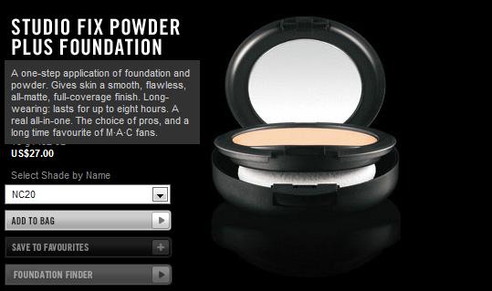 mac studio fix powder plus foundation nc 40 review