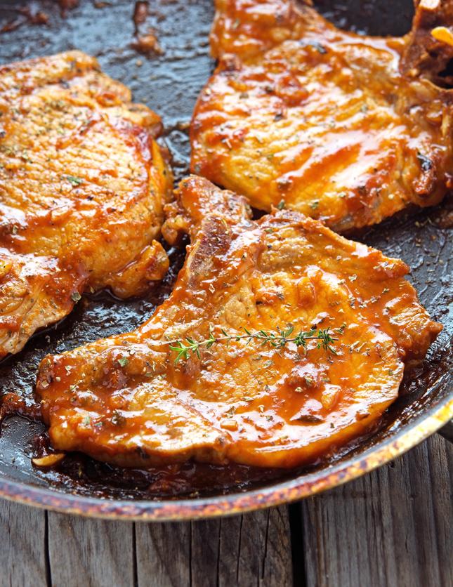 Honey-Garlic Glazed Pork Chops