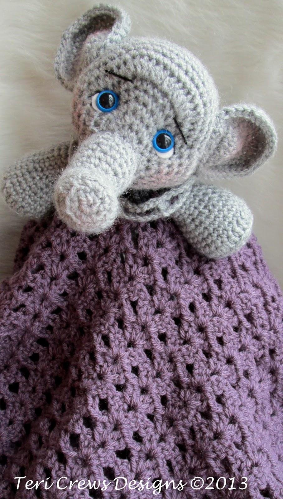 Teri\'s Blog: New Elephant Huggy Baby Blanket Pattern