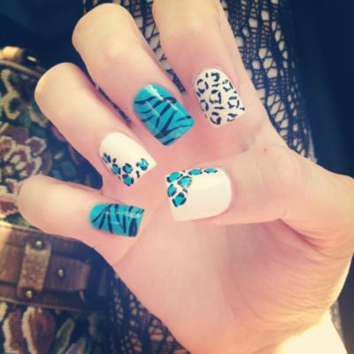 unha decoradas Decoração Leopard