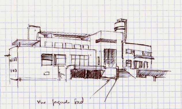 Dessin D Une Villa : Le des amis de la villa cavrois plans