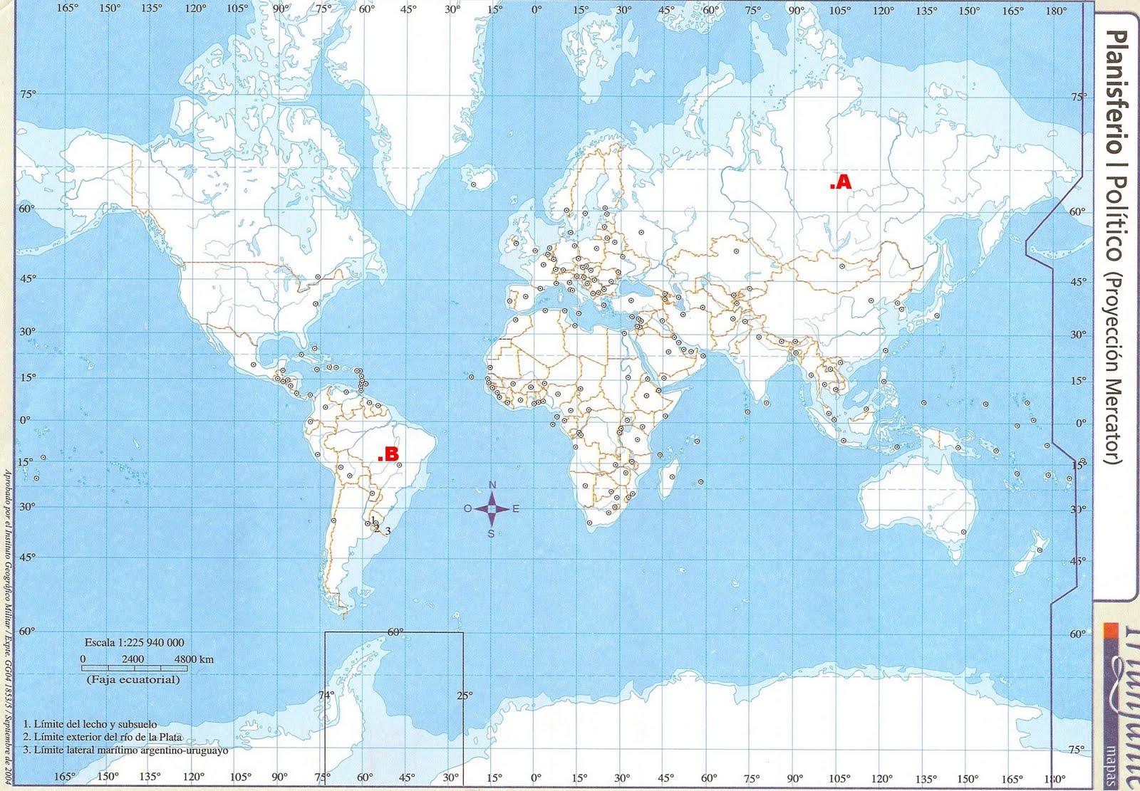 Pin Planisferio Para Colorear Trabajamos Con El Pelautscom on ...