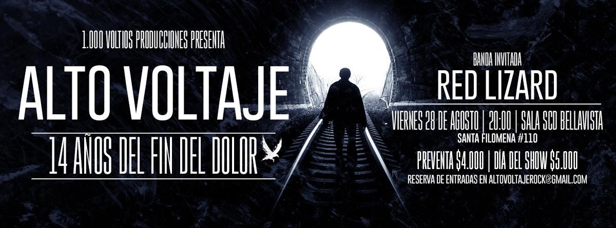 """ALTO VOLTAJE 14 AÑOS DEL FIN DEL DOLOR"""""""