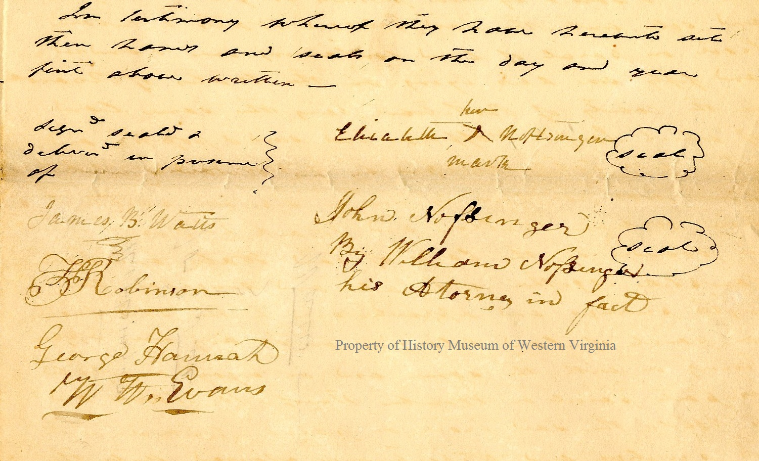 roanoke and western virginia glimpses of the past watts by his attorney william noffsinger of the one part and edward watts of the other part conveying a tract of land in botetourt now roanoke county