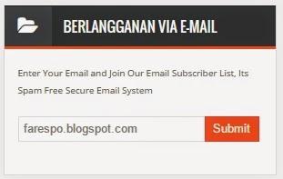 Cara Membuat Berlangganan Subscribe Email di Blog