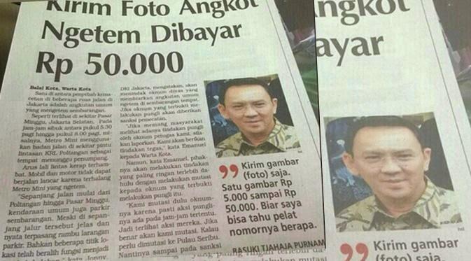 foto angkot ngetem di bayar 50 ribu