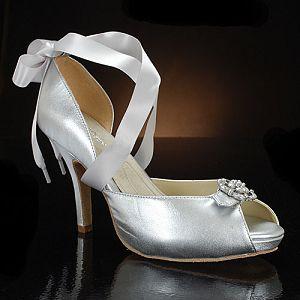 Elegant Bridal Style Silver Bridal Shoes